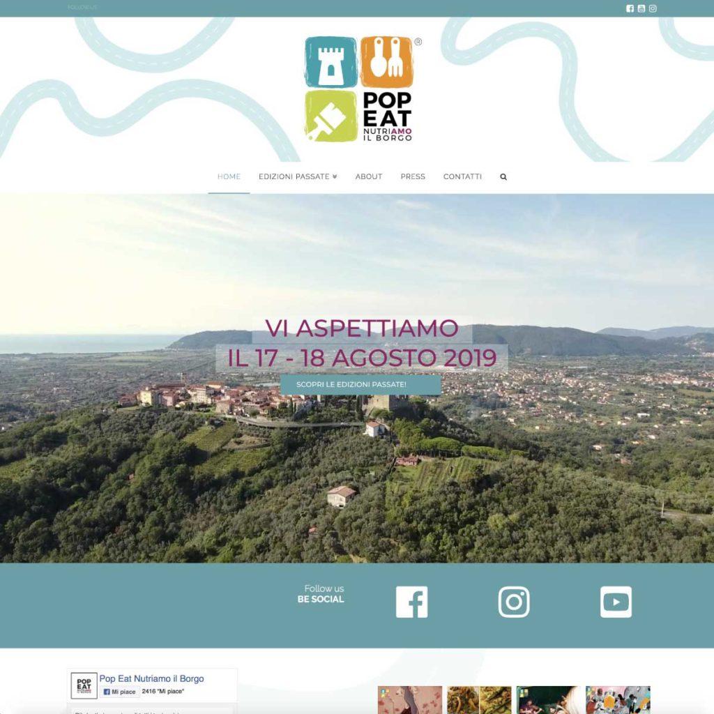 Pop Eat Nutriamo il Borgo | Sito web dinamico